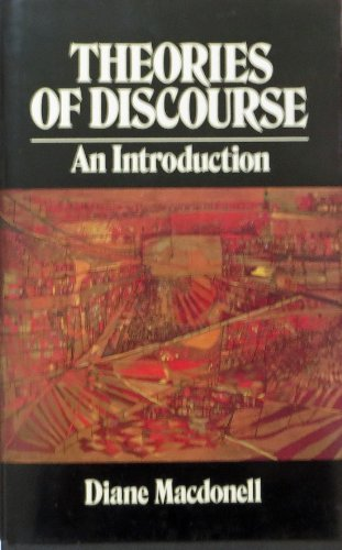 9780631148388: Theories of Discourse: An Introduction