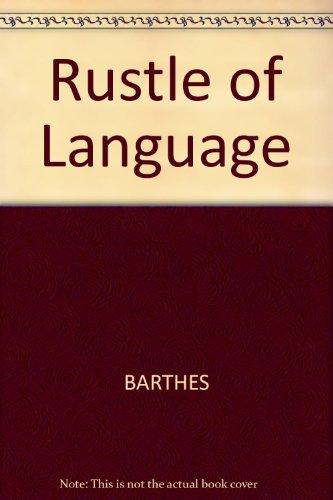 9780631148647: Rustle of Language