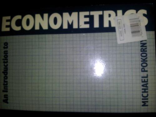 An Introduction to Econometrics: Pokorny, Michael