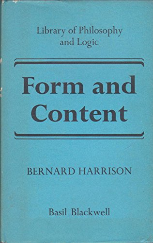 9780631150305: Form and Content (Library of philosophy and logic)
