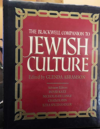 9780631151111: The Blackwell Companion to Jewish Culture