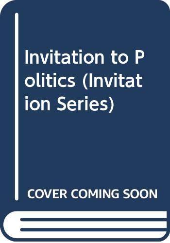 9780631151388: Invitation to Politics (Invitation Series)