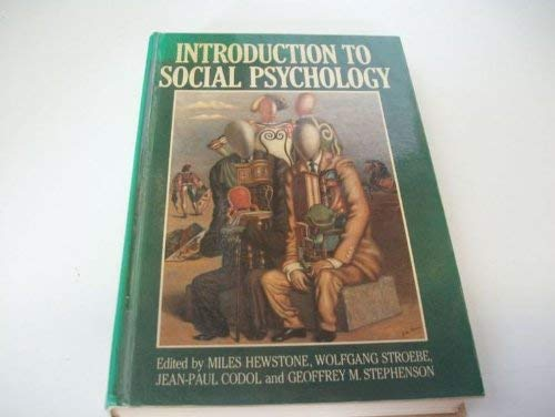 9780631151630: Introduction to Social Psychology: A European Perspective