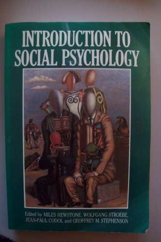 9780631151647: Introduction to Social Psychology: A European Perspective