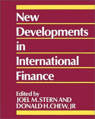 9780631152040: New Developments in International Finance