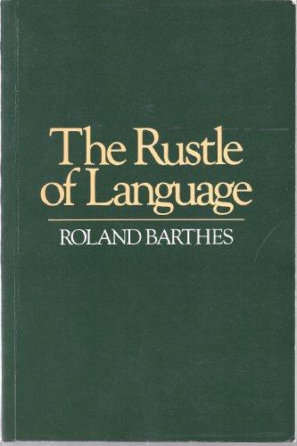 9780631152163: The Rustle of Language.