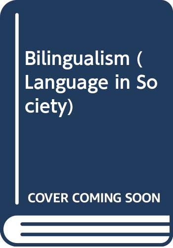 9780631152255: Bilingualism (Language in Society)