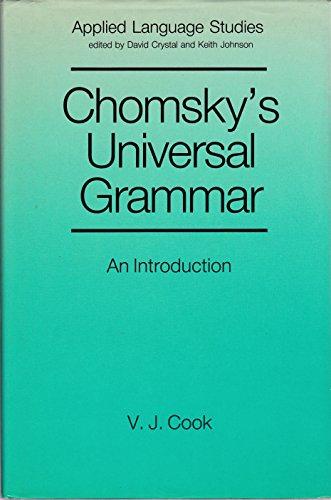 9780631153016: Chomsky's Universal Grammar (Applied Language Studies)