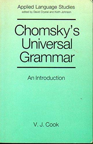 9780631153023: Chomsky's Universal Grammar (Applied Language Studies)