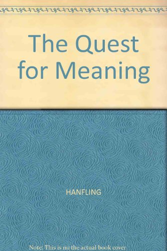 9780631153320: The Quest for Meaning