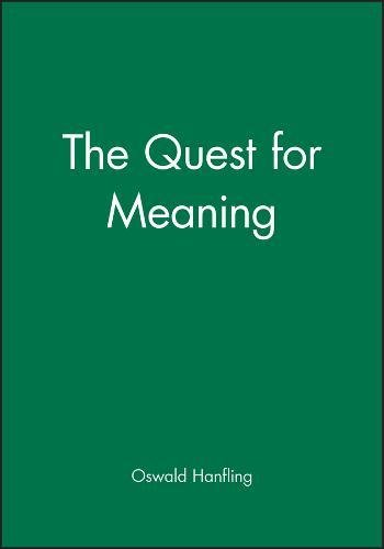 9780631153337: The quest for meaning