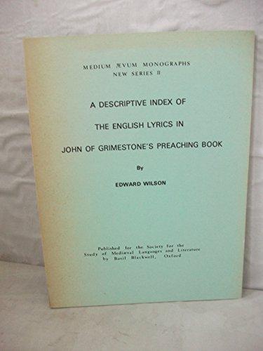 9780631154006: John of Grimestones Preach Bk (Medium Aevum Monographs) (English and Multilingual Edition)