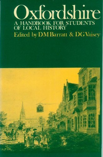 Oxfordshire: A Handbook for Students of Local History: Blackwell Publishers