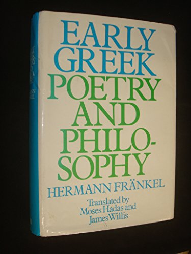 9780631154501: Early Greek Poetry and Philosophy