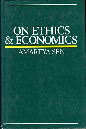 9780631154945: On Ethics and Economics