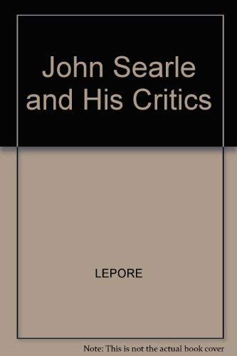 9780631156369: John Searle and His Critics