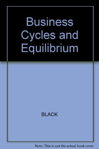 9780631157540: Business Cycles and Equilibrium