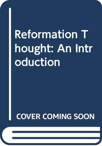 9780631158028: Reformation Thought: An Introduction