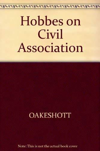 9780631159209: Hobbes on Civil Association