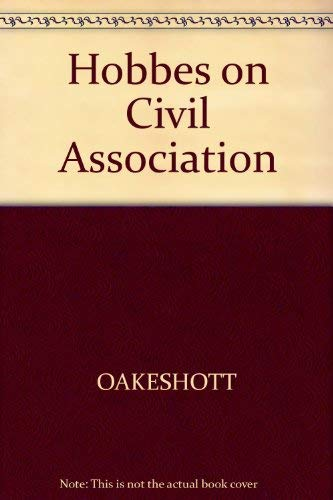 9780631159209: Hobbes on Civil Association