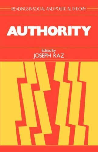 9780631159445: Authority (Readings in Social & Political Theory)