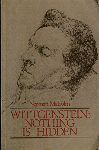 9780631160243: Wittgenstein: Nothing is Hidden