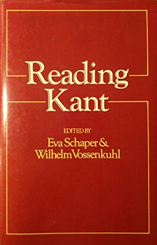 9780631160298: Reading Kant: New Perspectives on Transcendental Arguments and Critical Philosophy