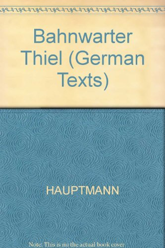 9780631160410: Bahnwarter Thiel (Blackwell German Texts) (German Edition)