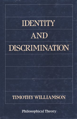 9780631161172: Identity and Discrimination (Philosophical theory)