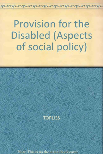 9780631162209: Provision for the Disabled (Aspects of social policy)
