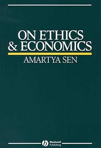 9780631164012: On Ethics and Economics