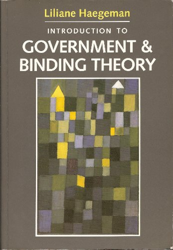 9780631165620: Introduction to Government and Binding Theory