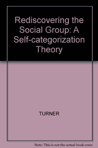 9780631165866: Rediscovering the Social Group: A Self-Categorization Theory