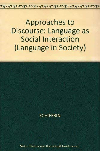 9780631166221: Approaches to Discourse (Blackwell Textbooks in Linguistics)