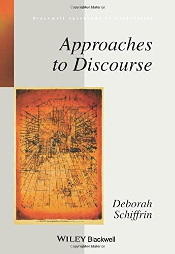 9780631166238: Approaches to Discourse (Blackwell Textbooks in Linguistics)