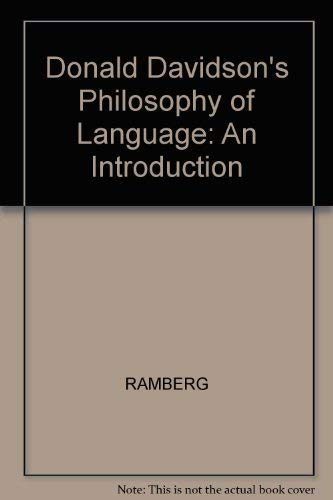 9780631167860: Donald Davidson's Philosophy of Language: An Introduction