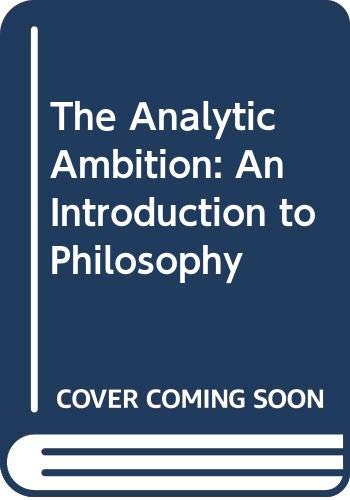9780631169345: The Analytic Ambition: Introduction to Philosophy