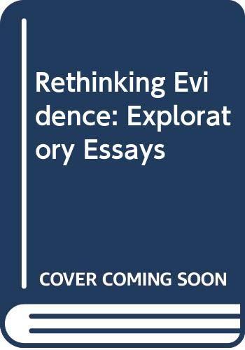 9780631170013: Rethinking Evidence: Exploratory Essays