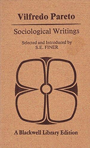 9780631170105: Vilfredo Pareto: Sociological Writings.