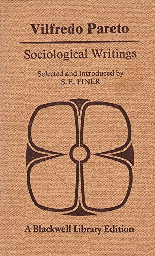 9780631170105: Vilfredo Pareto: Sociological Writings.