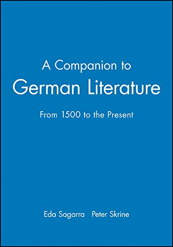 9780631171225: A Companion to German Literature: From 1500 to the Present (Blackwell Companions to Literature and Culture)