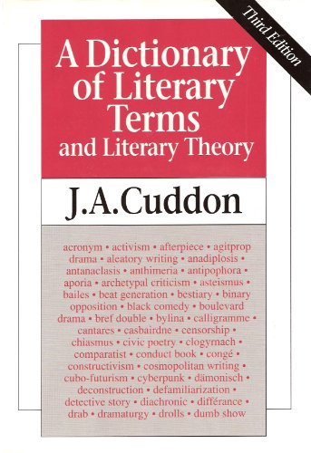 9780631172147: A Dictionary of Literary Terms and Literary Theory