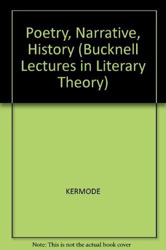9780631172659: Poetry, Narrative, History (Bucknell Lecture Series in Literary Theory)