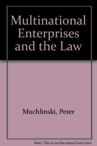 9780631173113: Multinational Enterprises and the Law