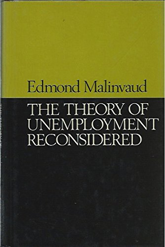 9780631173502: Theory of Unemployment Reconsidered: Lectures (Yrjo Jahnsson lectures)