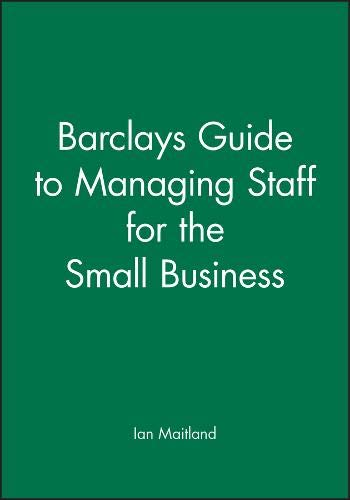 9780631174820: Managing Staff for the Small Business (Ibg Studies in Geography)