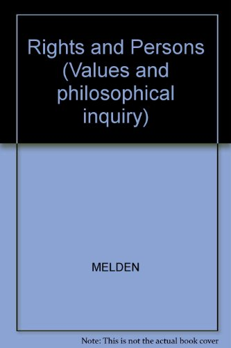 9780631175100: Rights and Persons (Values and philosophical inquiry)