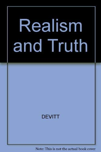9780631175513: Realism and Truth
