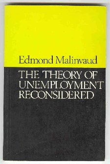 9780631176909: Theory of Unemployment Reconsidered: Lectures (Yrjo Jahnsson lectures)