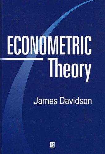 9780631178378: Econometric Theory